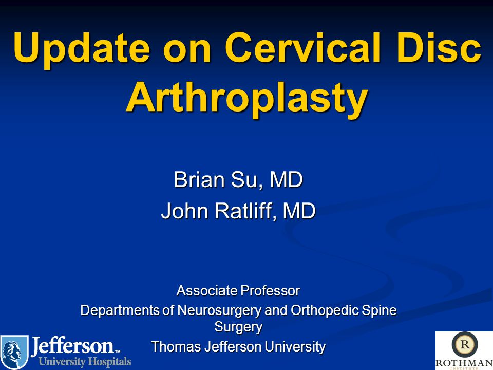 Update on Cervical Disc Arthroplasty