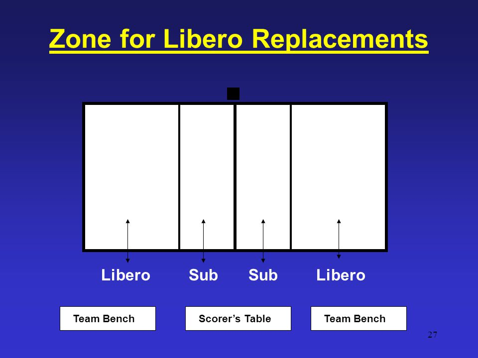 Zone for Libero Replacements