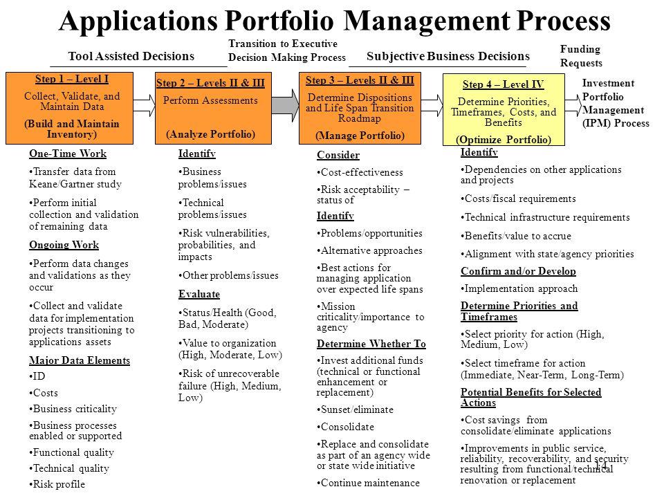 Applications Portfolio Management Process