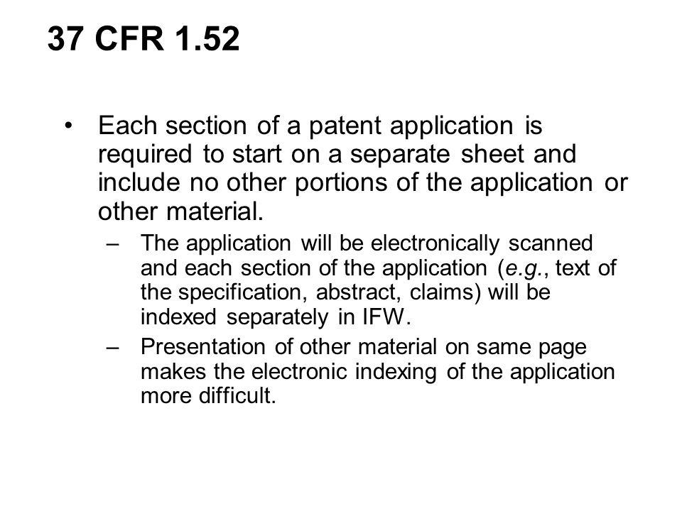 37 CFR 1.52