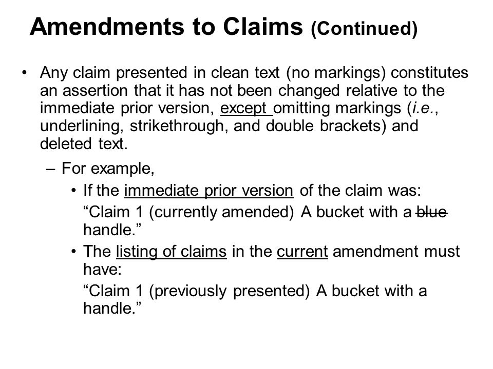 Amendments to Claims (Continued)