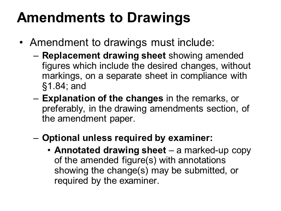 Amendments to Drawings