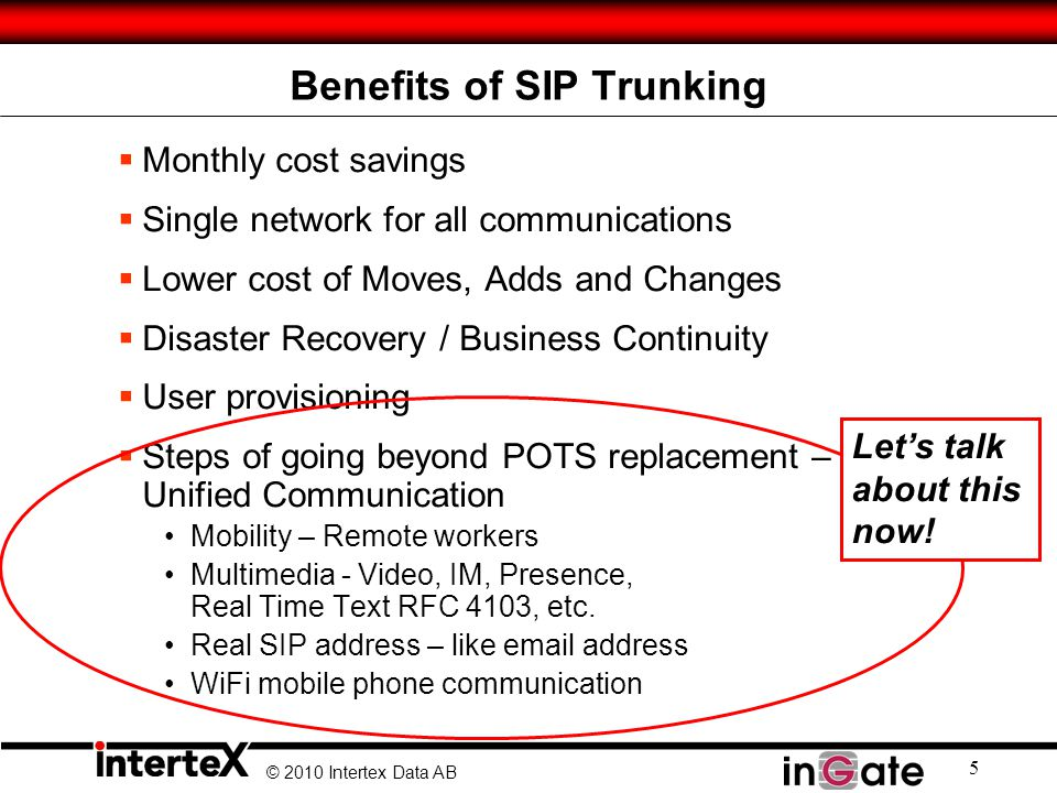 Benefits of SIP Trunking