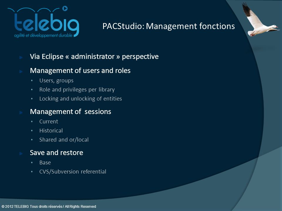 PACStudio: Management fonctions