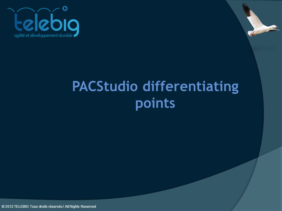 PACStudio differentiating points