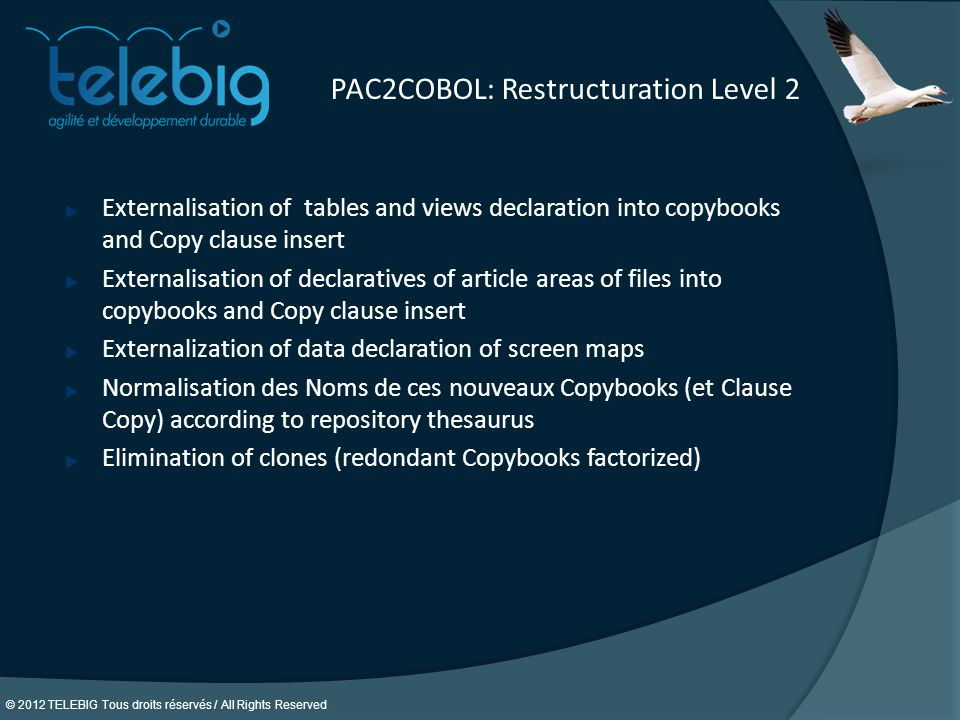 PAC2COBOL: Restructuration Level 2