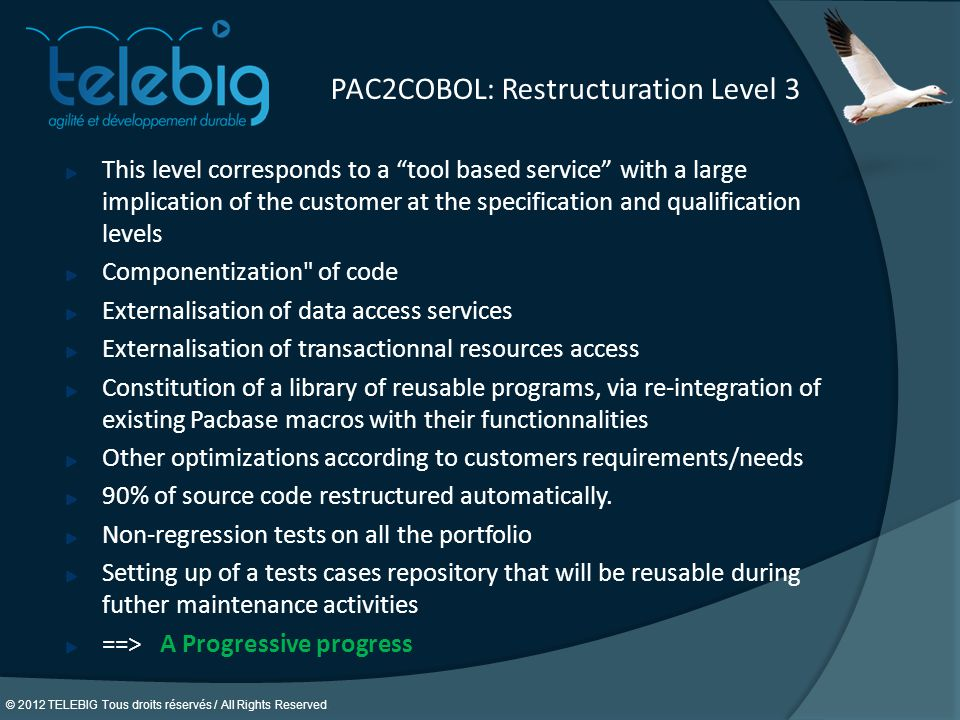 PAC2COBOL: Restructuration Level 3