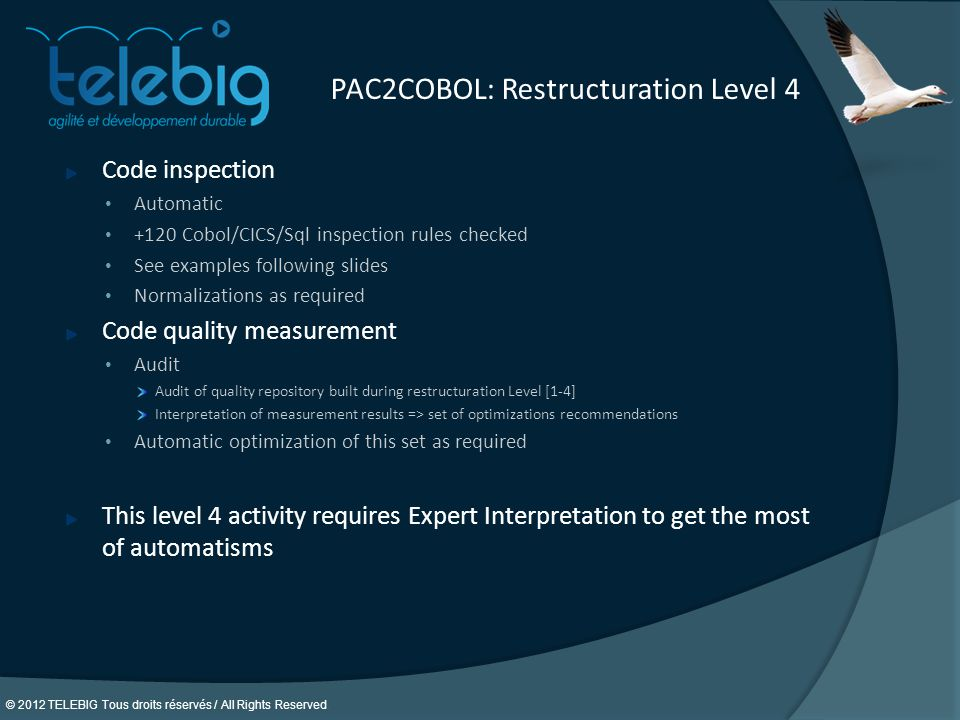 PAC2COBOL: Restructuration Level 4