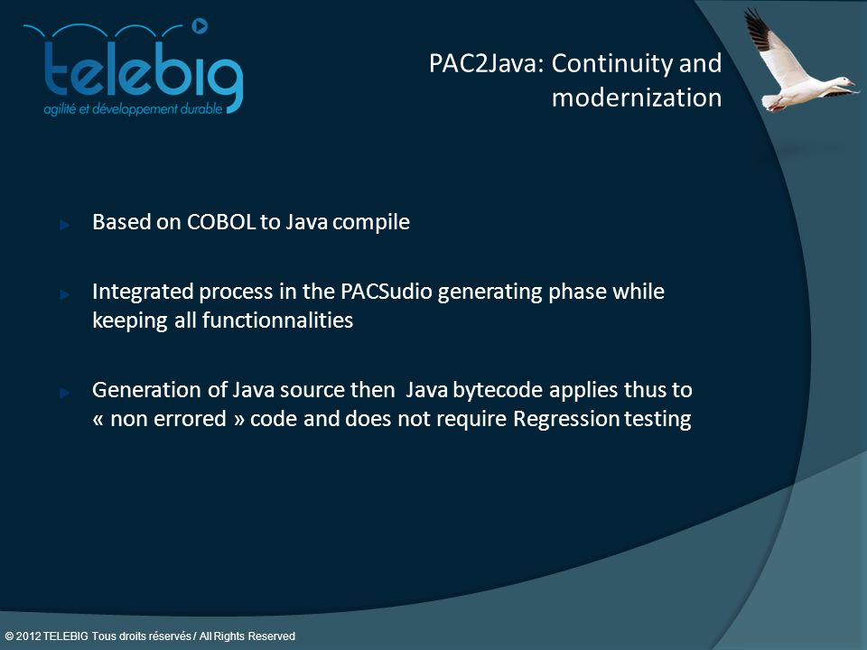 PAC2Java: Continuity and modernization