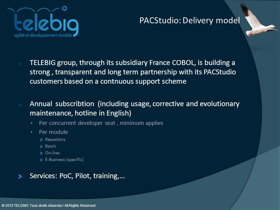 PACStudio: Delivery model