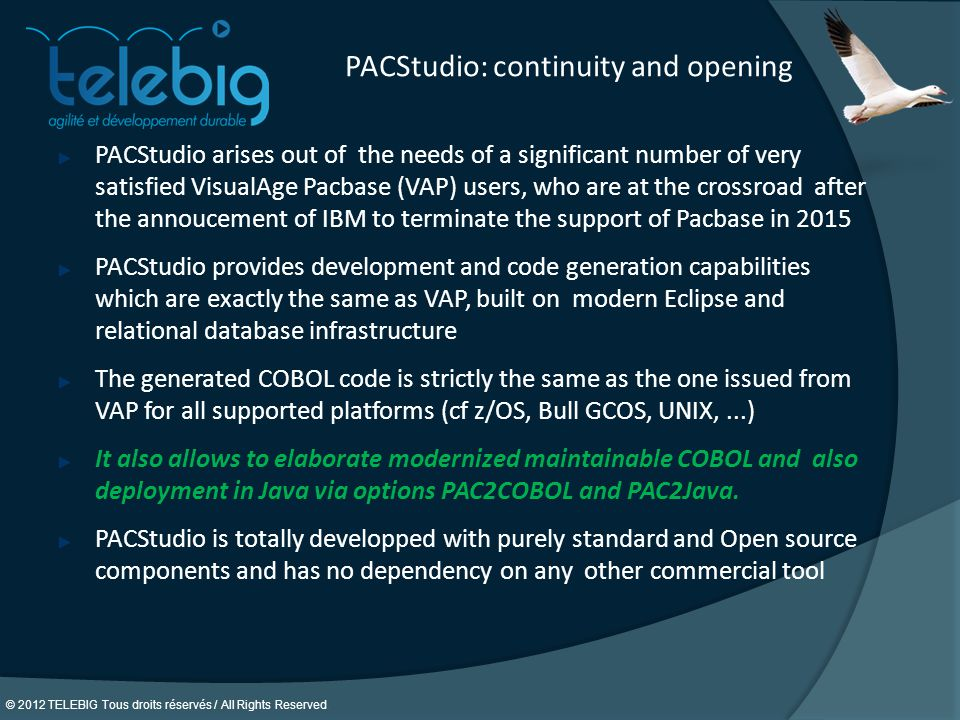 PACStudio: continuity and opening