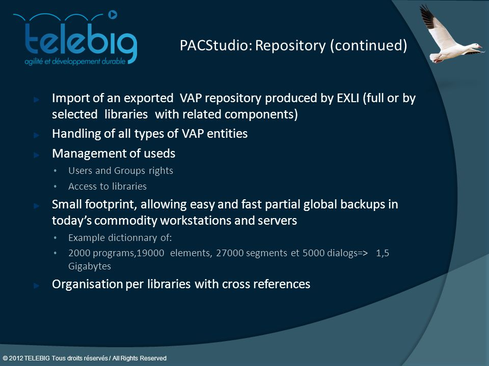 PACStudio: Repository (continued)