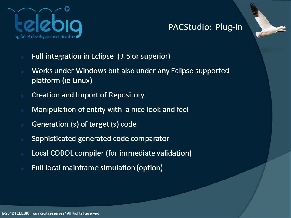 PACStudio: Plug-in Full integration in Eclipse (3.5 or superior)