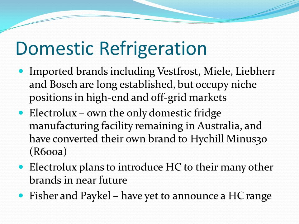 Domestic Refrigeration