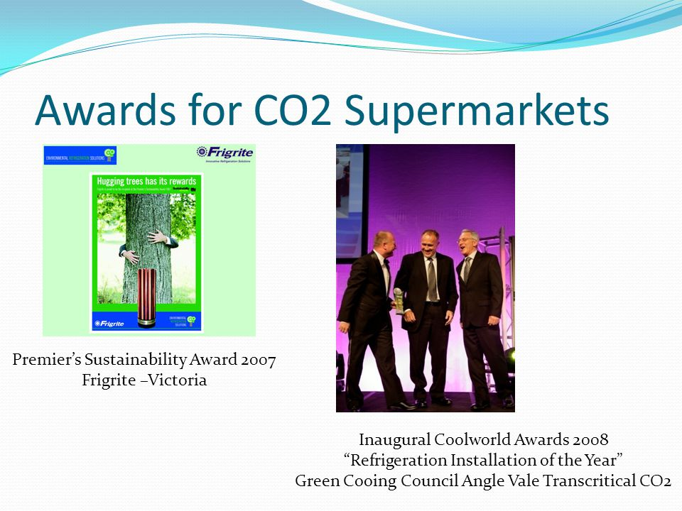Awards for CO2 Supermarkets