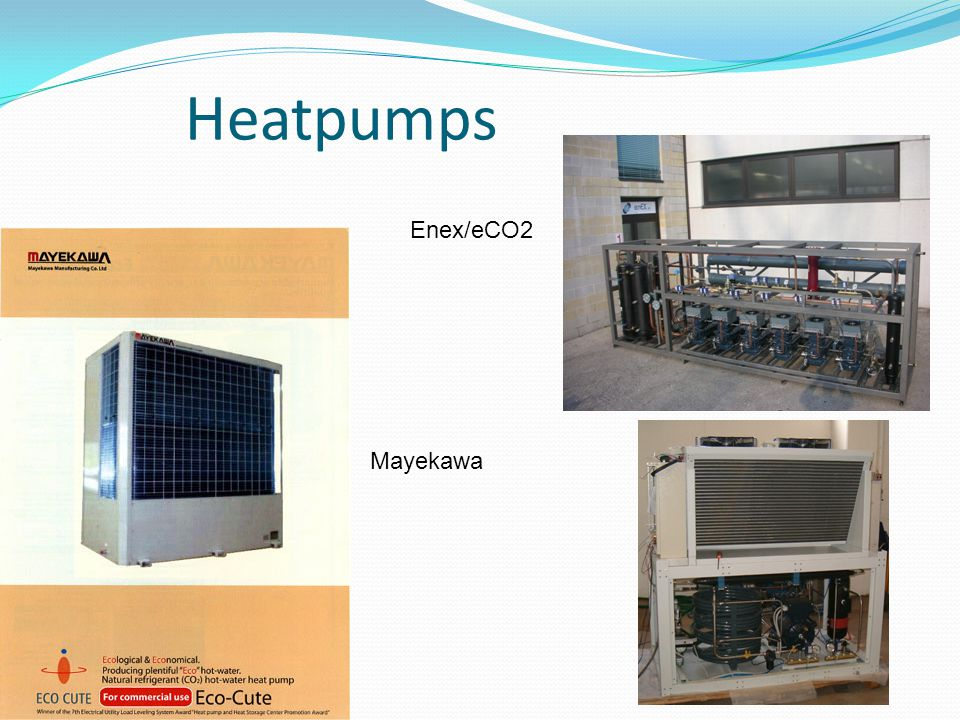 Heatpumps Enex/eCO2 Mayekawa