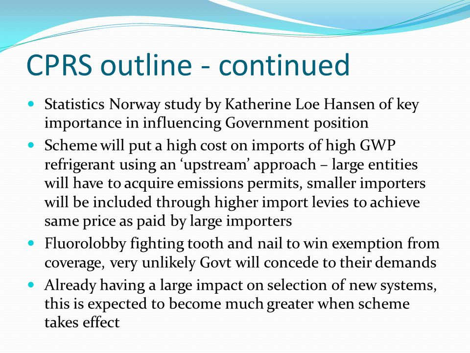 CPRS outline - continued