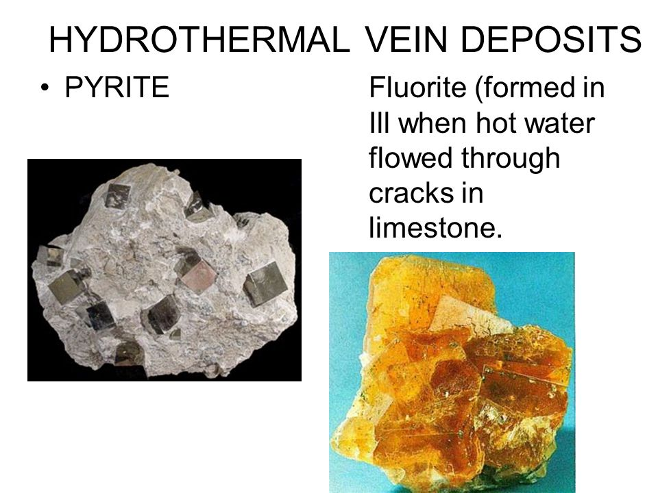 HYDROTHERMAL VEIN DEPOSITS