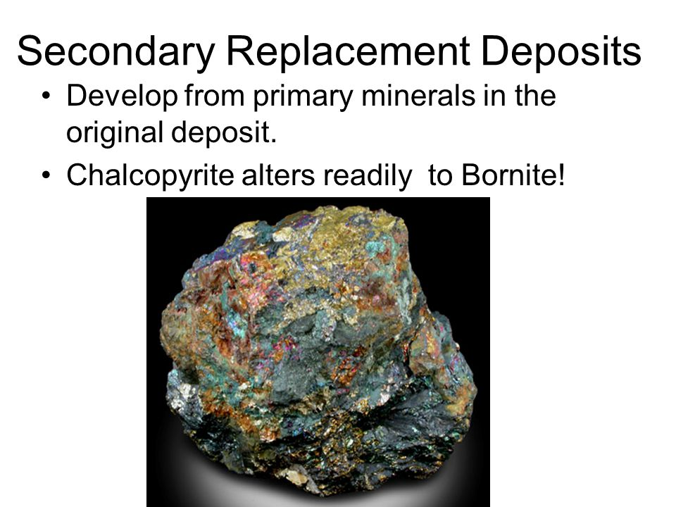 Secondary Replacement Deposits