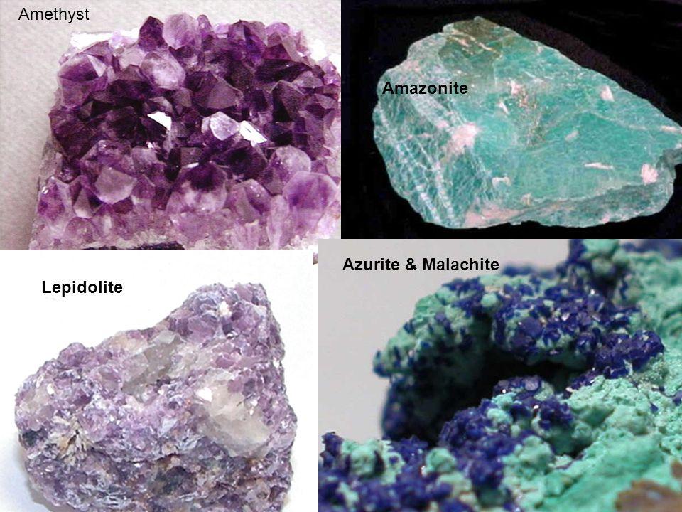Amethyst Amazonite Azurite & Malachite Lepidolite