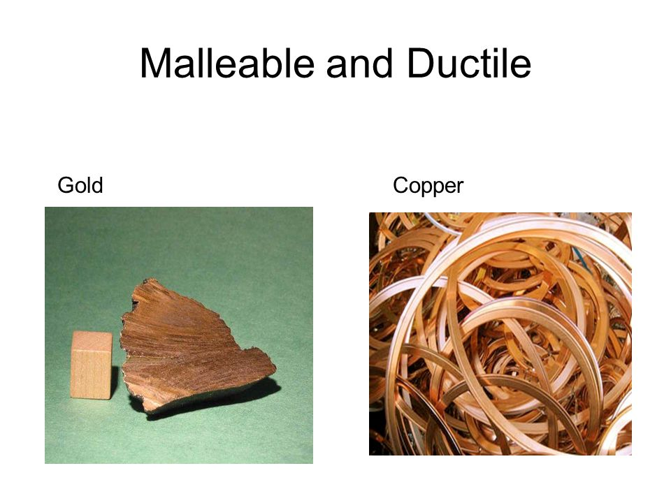 Malleable and Ductile Gold Copper