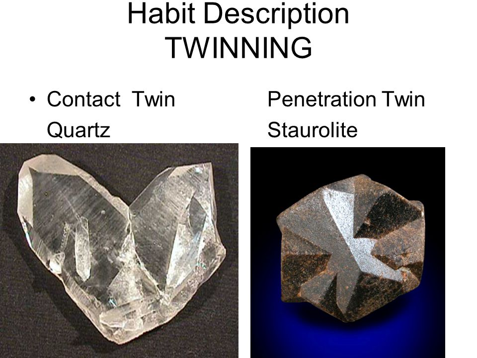 Habit Description TWINNING