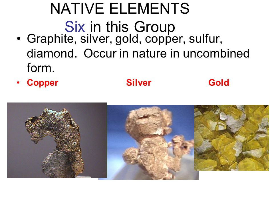 NATIVE ELEMENTS Six in this Group