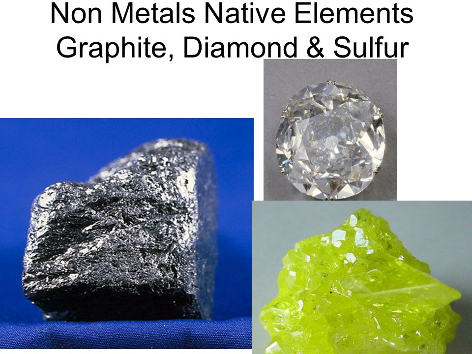 Non Metals Native Elements Graphite, Diamond & Sulfur