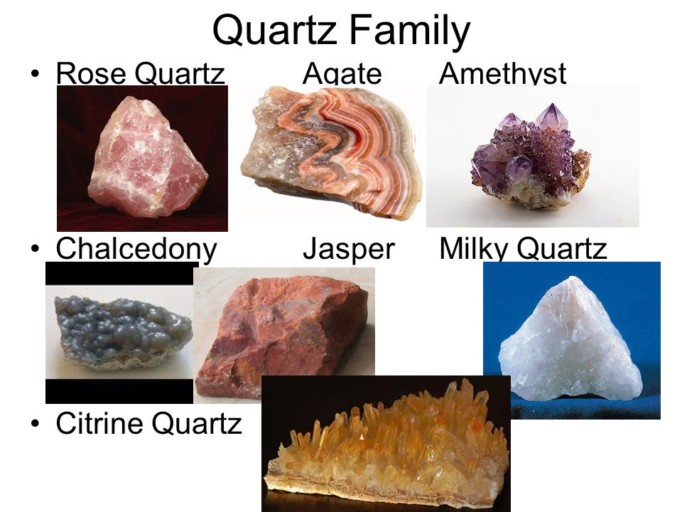 Quartz Family Rose Quartz Agate Amethyst