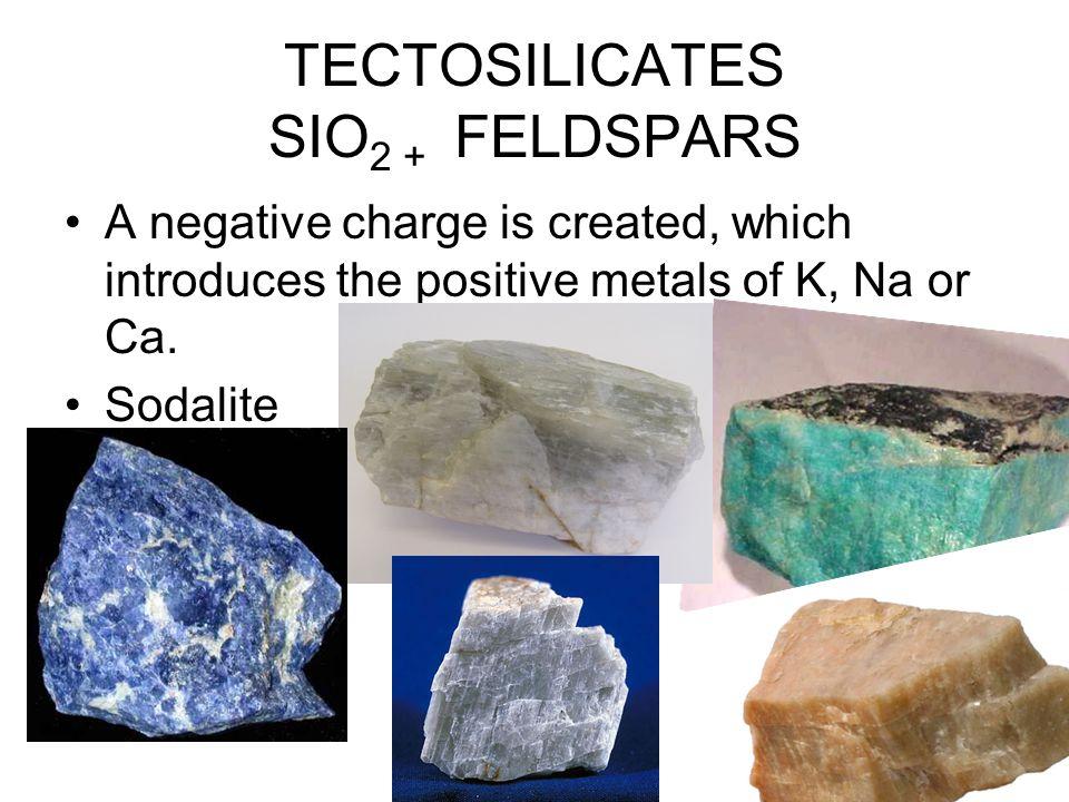 TECTOSILICATES SIO2 + FELDSPARS