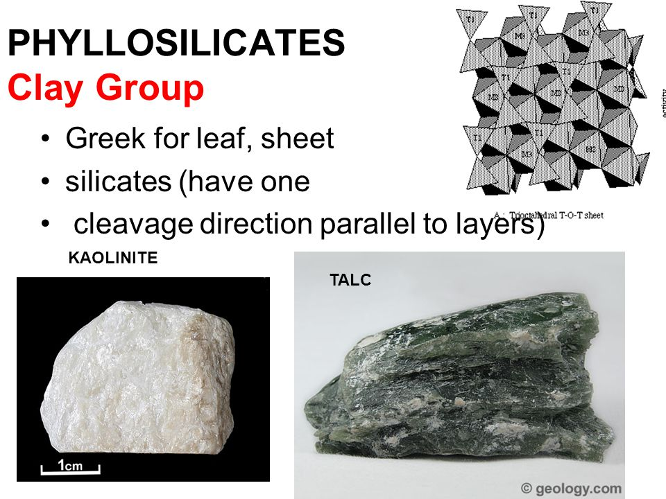PHYLLOSILICATES Clay Group
