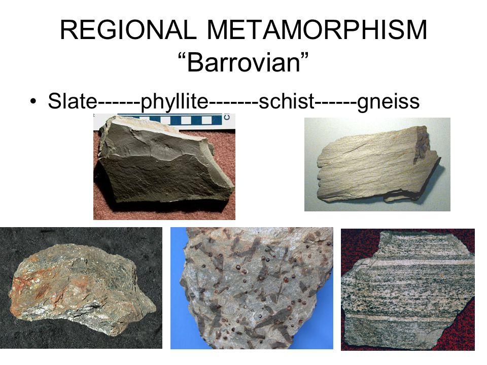 REGIONAL METAMORPHISM Barrovian