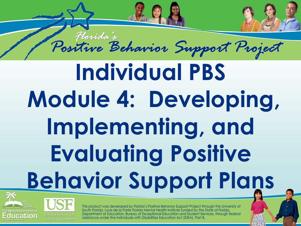 Individual PBS Module 4: Developing, Implementing, and Evaluating Positive Behavior Support Plans