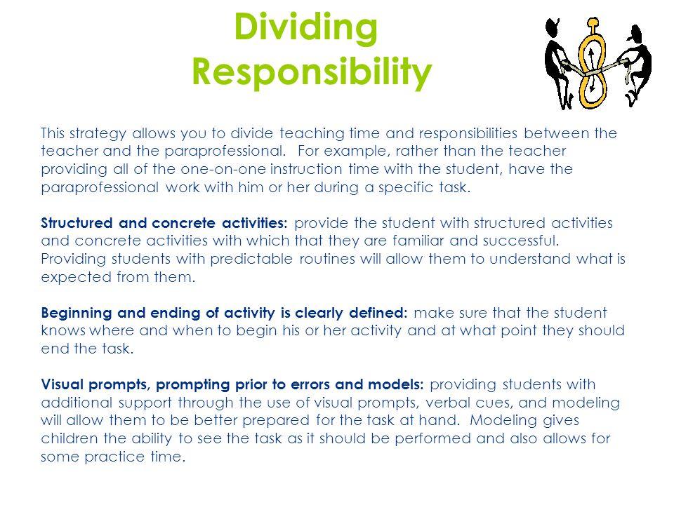 Dividing Responsibility