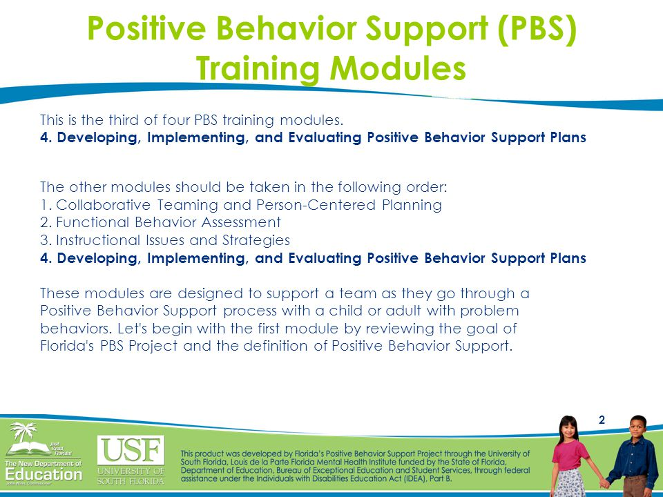 Positive Behavior Support (PBS) Training Modules
