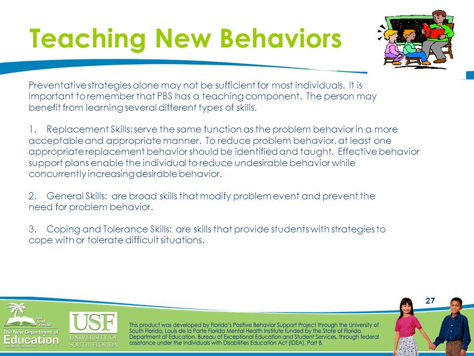 Teaching New Behaviors