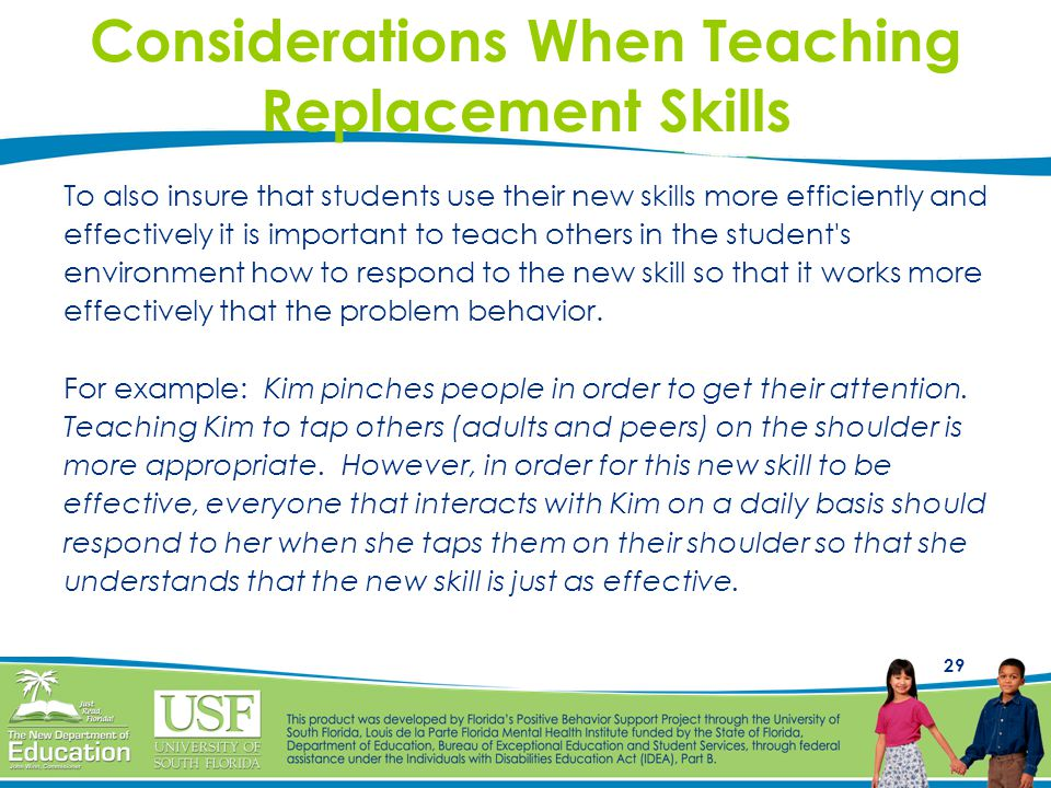 Considerations When Teaching Replacement Skills