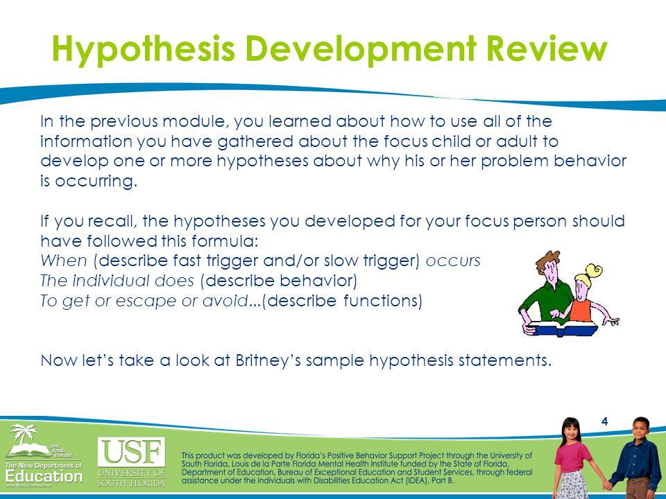 Hypothesis Development Review