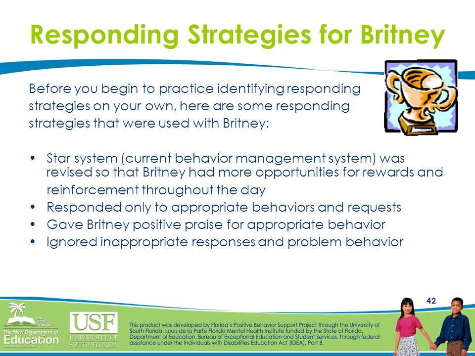 Responding Strategies for Britney