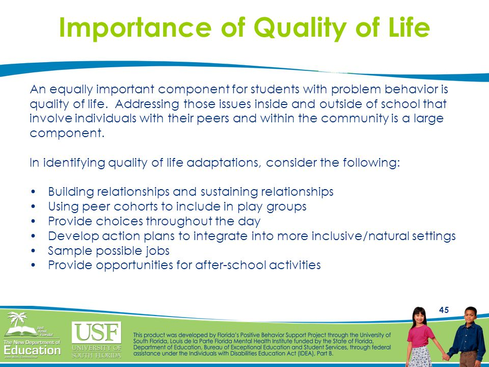 Importance of Quality of Life