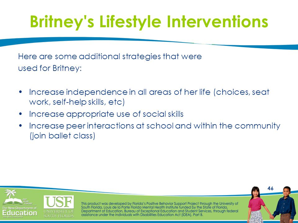 Britney s Lifestyle Interventions