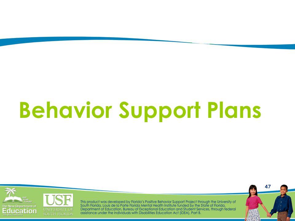 Behavior Support Plans