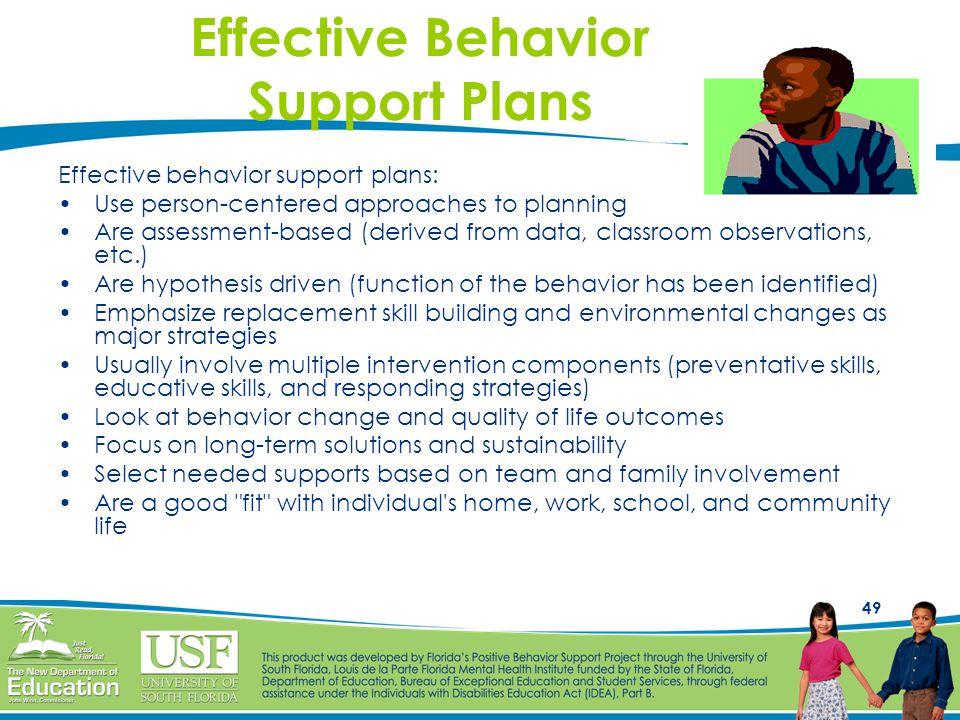 Effective Behavior Support Plans