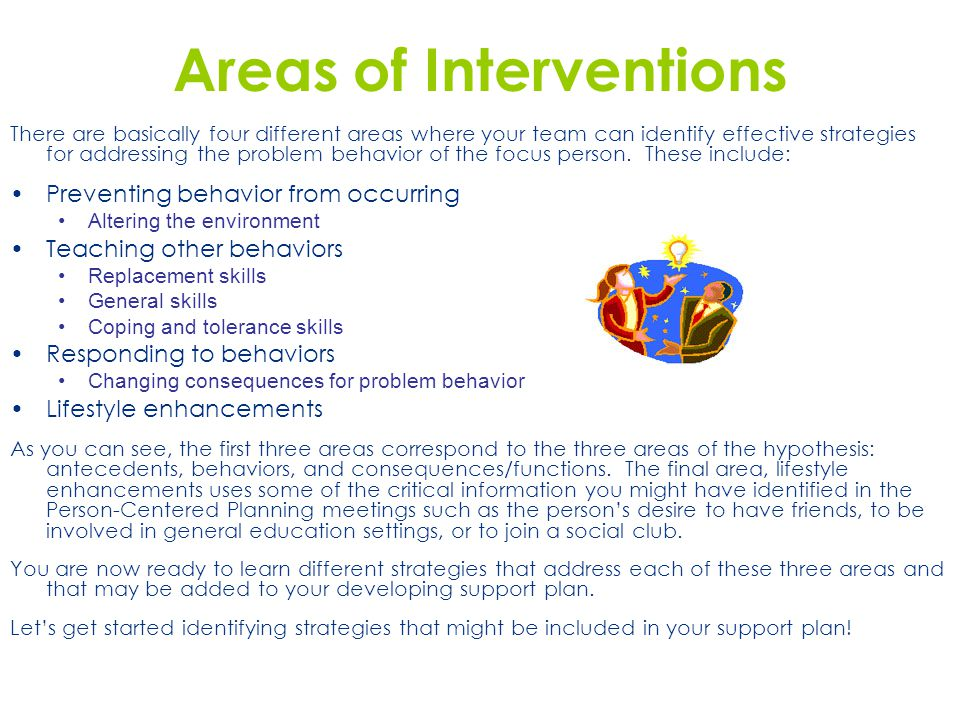 Areas of Interventions