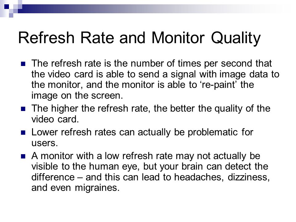 Refresh Rate and Monitor Quality