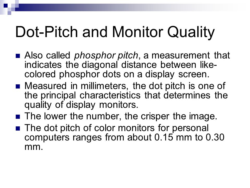 Dot-Pitch and Monitor Quality
