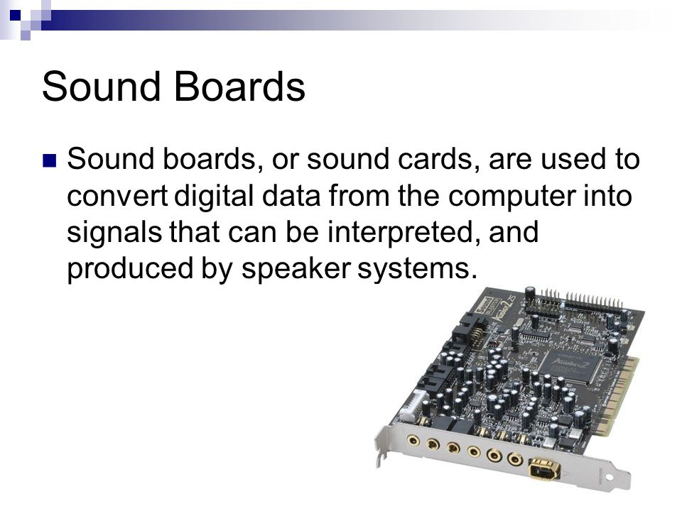 Sound Boards