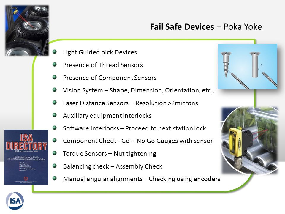 Fail Safe Devices – Poka Yoke