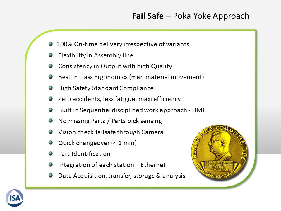 Fail Safe – Poka Yoke Approach