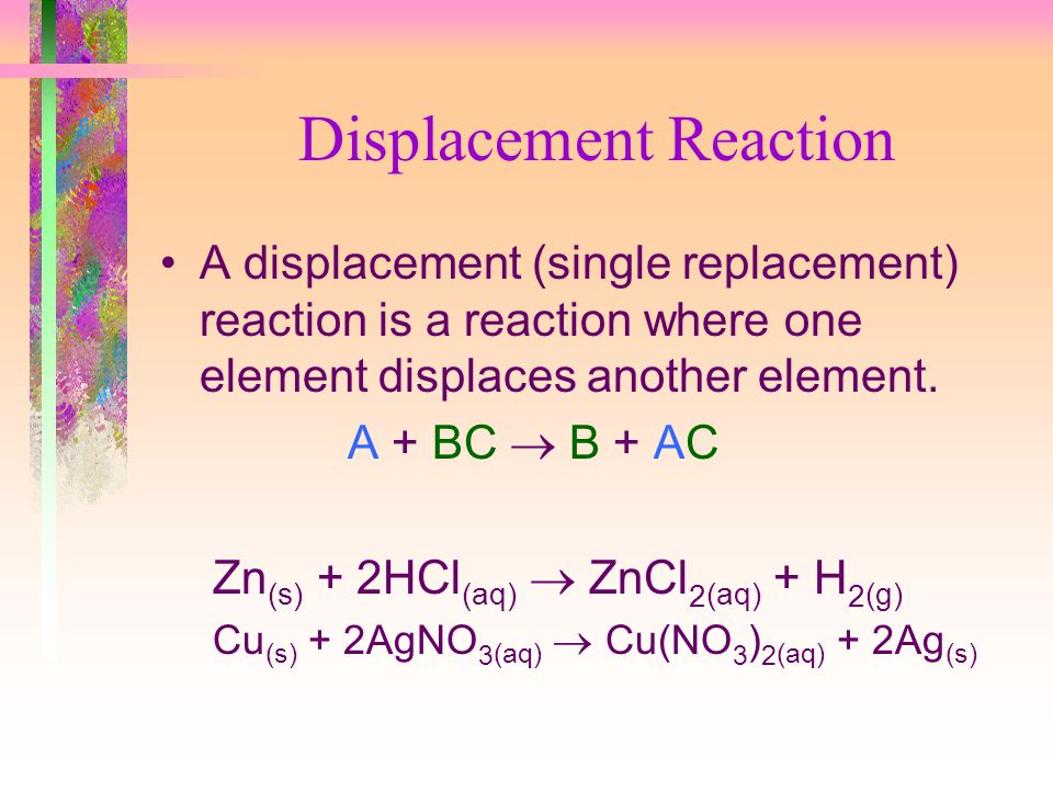 Displacement Reaction
